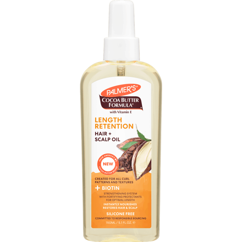 $1.00 for Palmer's Cocoa Butter + Biotin Length Retention Hair + Scalp Oil (expiring on Sunday, 05/02/2021). Offer available at Walmart, Walmart Pickup & Delivery.
