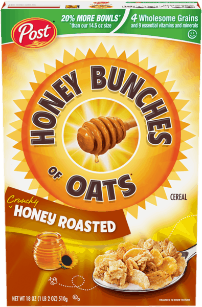 $0.25 for Honey Bunches of Oats® (expiring on Saturday, 03/02/2019). Offer available at multiple stores.