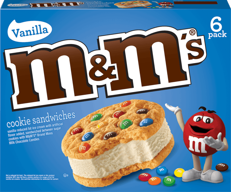$1.00 for M&M'S® Ice Cream Cookie Sandwich (expiring on Wednesday, 07/31/2019). Offer available at Kroger, Giant Eagle, Meijer, ShopRite, Hy-Vee.