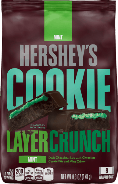 $1.00 for Hershey's® Cookie Layer Crunch (expiring on Wednesday, 05/02/2018). Offer available at Walmart.