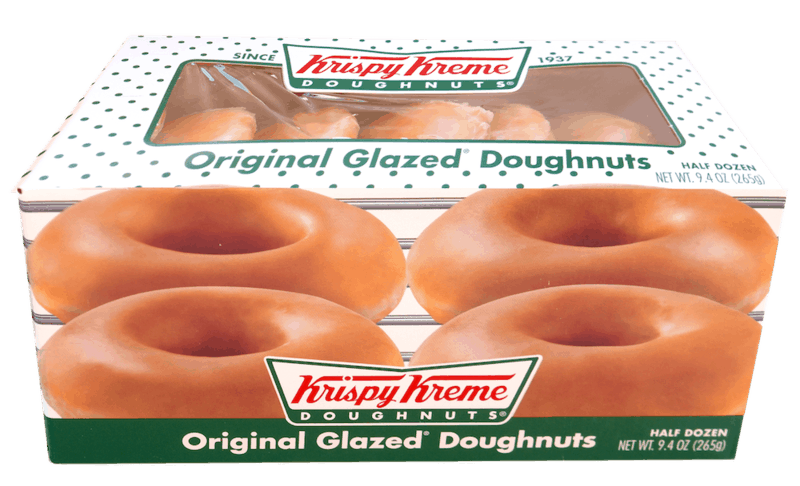 $0.50 for Krispy Kreme Doughnuts (expiring on Saturday, 04/25/2020). Offer available at multiple stores.