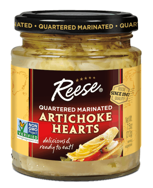 $0.50 for Reese®  Marinated Artichoke Hearts. Offer available at multiple stores.