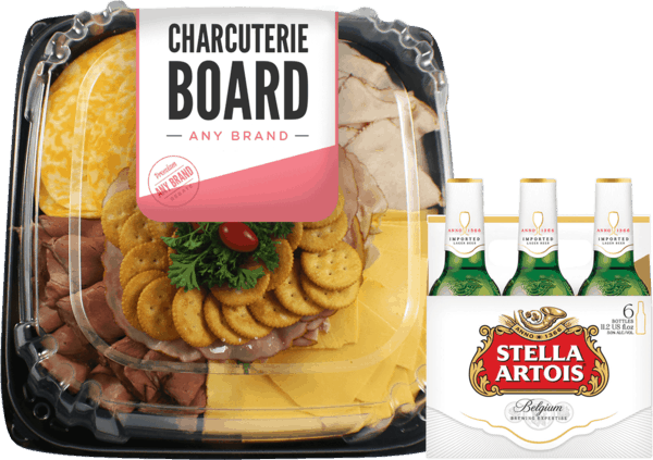 $4.00 for Stella Artois® AND Cheeses, Bakery Breads, Cured Meats or Premade Charcuterie Boards (expiring on Wednesday, 09/05/2018). Offer available at Any Military Exchange.