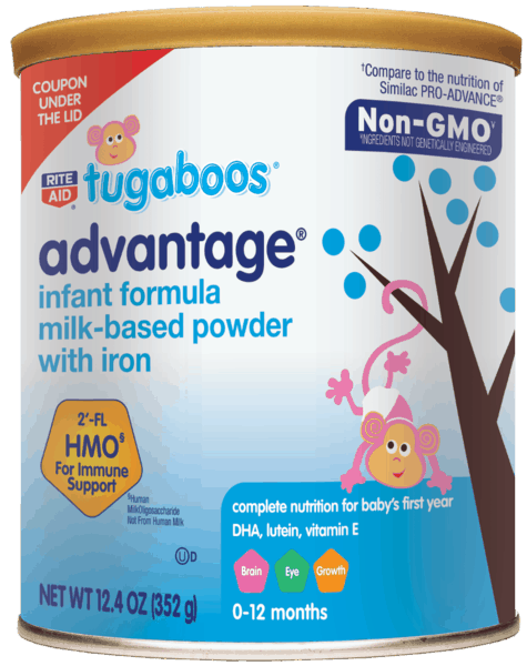 $4.00 for Tugaboos® Infant Formula (expiring on Friday, 08/02/2019). Offer available at Rite Aid.