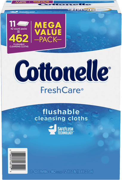$2.50 for Cottonelle® FreshCare® Flushable Cleansing Cloths. Offer available at Sam's Club.