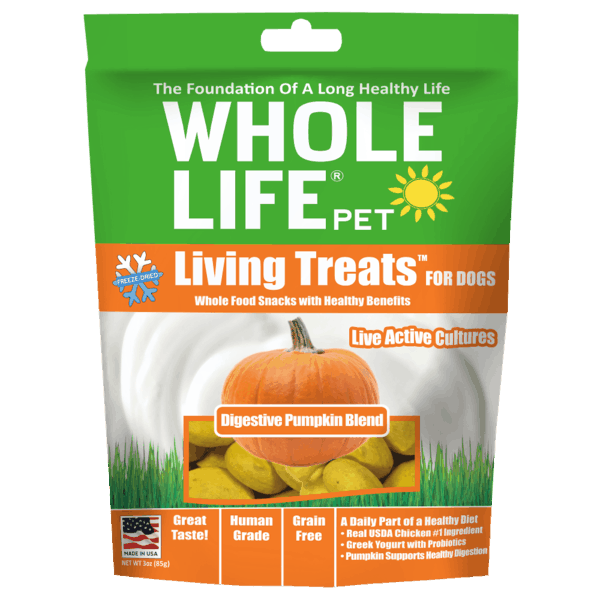 $1.00 for Whole Life® Living Treats™ For Dogs (expiring on Sunday, 09/02/2018). Offer available at Hy-Vee, Petco, Big Y Foods.