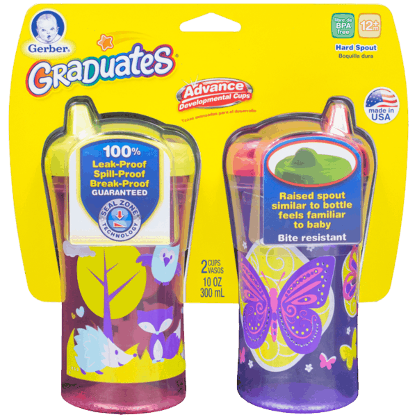$1.00 for Gerber® Graduates® Sippy Cups (expiring on Friday, 07/28/2017). Offer available at Target, Walmart, Babies R Us.