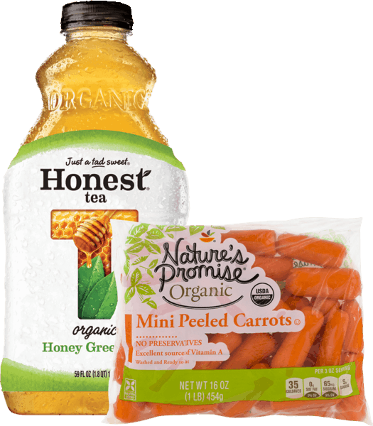 $1.75 for Honest® Tea or Honest Kids® & Nature's Promise® Organic Baby Cut Carrots Combo (expiring on Sunday, 07/01/2018). Offer available at Stop & Shop, Martin's (IN, MI), Giant (DC,DE,VA,MD), GIANT (PA,WV,MD,VA), MARTIN'S.