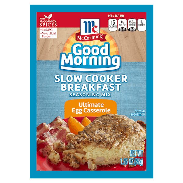 $0.50 for McCormick® Good Morning Slow Cooker Breakfast (expiring on Saturday, 06/30/2018). Offer available at multiple stores.