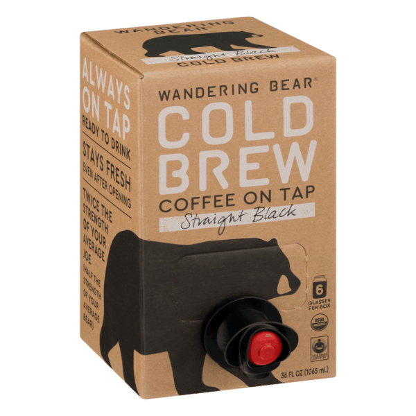 $1.00 for Wandering Bear® Cold Brew (expiring on Wednesday, 10/02/2019). Offer available at Whole Foods Market®.
