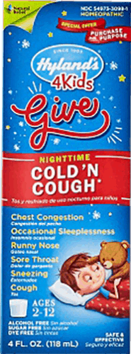 $1.00 for Hyland's® 4 Kids Cold 'n Cough Nighttime (expiring on Friday, 10/20/2017). Offer available at multiple stores.