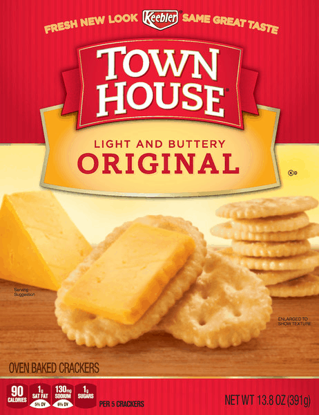 $0.50 for Town House® Crackers (expiring on Monday, 07/02/2018). Offer available at multiple stores.