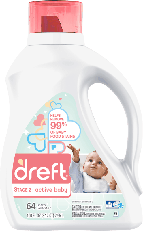 $3.00 for Dreft® Stage 2: Active Baby Laundry Detergent (expiring on Monday, 07/01/2019). Offer available at Walmart.