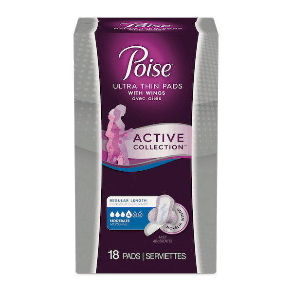 $1.00 for Poise®Active Collection™ Pads and Liners (expiring on Wednesday, 01/29/2020). Offer available at Walmart.