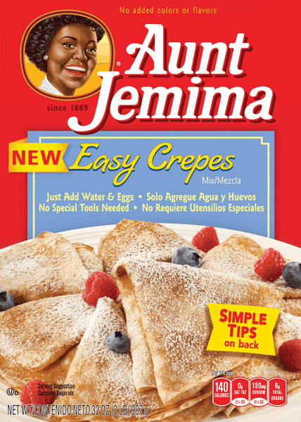 $1.00 for Aunt Jemima® Easy Crepes Mix (expiring on Sunday, 09/02/2018). Offer available at Walmart.