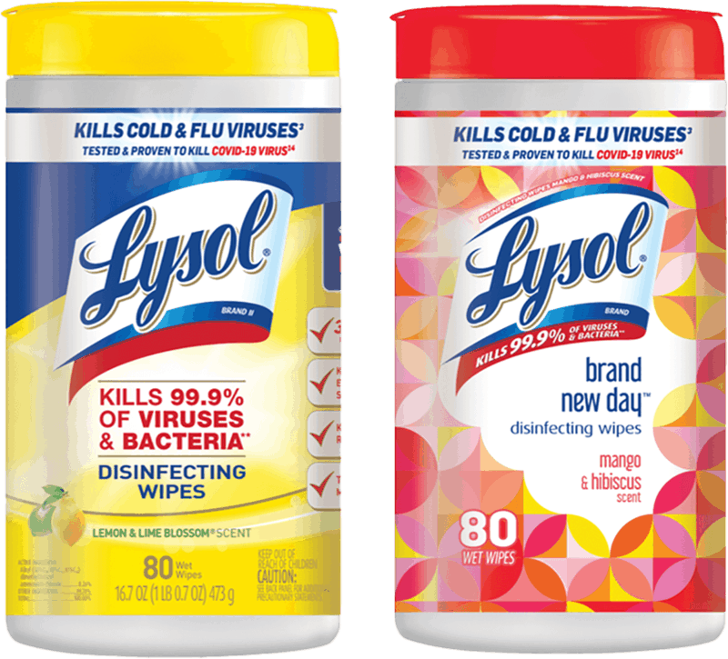 $0.50 for Lysol® Disinfecting Wipes (expiring on Tuesday, 08/24/2021). Offer available at Walmart, Walmart Pickup & Delivery.