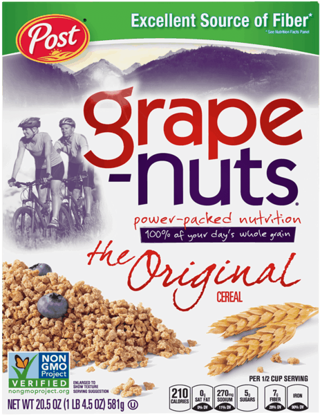 $0.50 for Grape Nuts® Cereal (expiring on Monday, 04/02/2018). Offer available at Target.