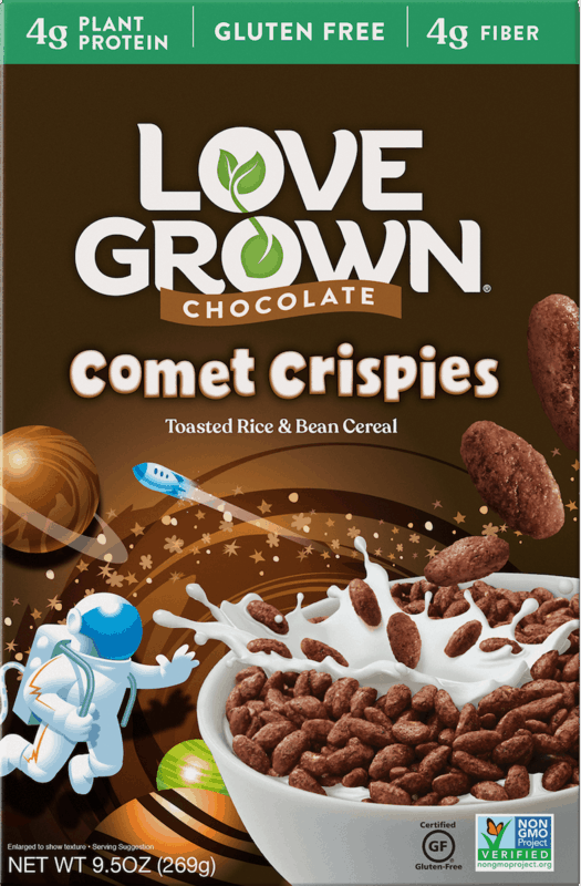 $1.00 for Love Grown Chocolate Comet Crispies Kid's Cereal (expiring on Wednesday, 03/04/2020). Offer available at Walmart.