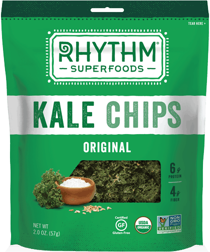 $0.50 for Rhythm Superfoods® Kale Chips (expiring on Monday, 12/31/2018). Offer available at multiple stores.