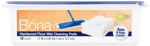 $2.00 for Bona® Hardwood Floor Wet Cleaning Pads (expiring on Wednesday, 11/15/2017). Offer available at multiple stores.