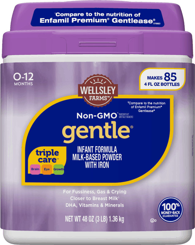 $4.00 for Wellsley Farms™ Gentle® Formula (expiring on Monday, 12/02/2019). Offer available at BJ's.