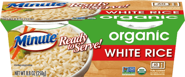 $1.00 for Minute® Ready to Serve Organic Rice. Offer available at multiple stores.