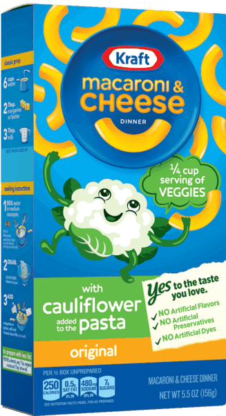 $0.25 for KRAFT® Macaroni & Cheese with Cauliflower Pasta (expiring on Saturday, 03/02/2019). Offer available at multiple stores.