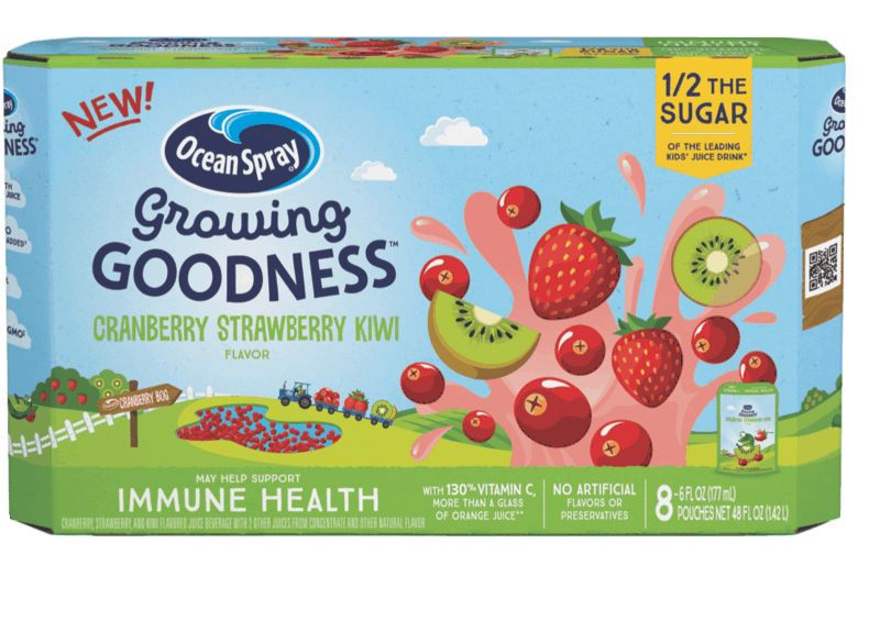 $1.00 for Ocean Spray Growing Goodness (expiring on Sunday, 08/16/2020). Offer available at Walmart, Walmart Grocery.