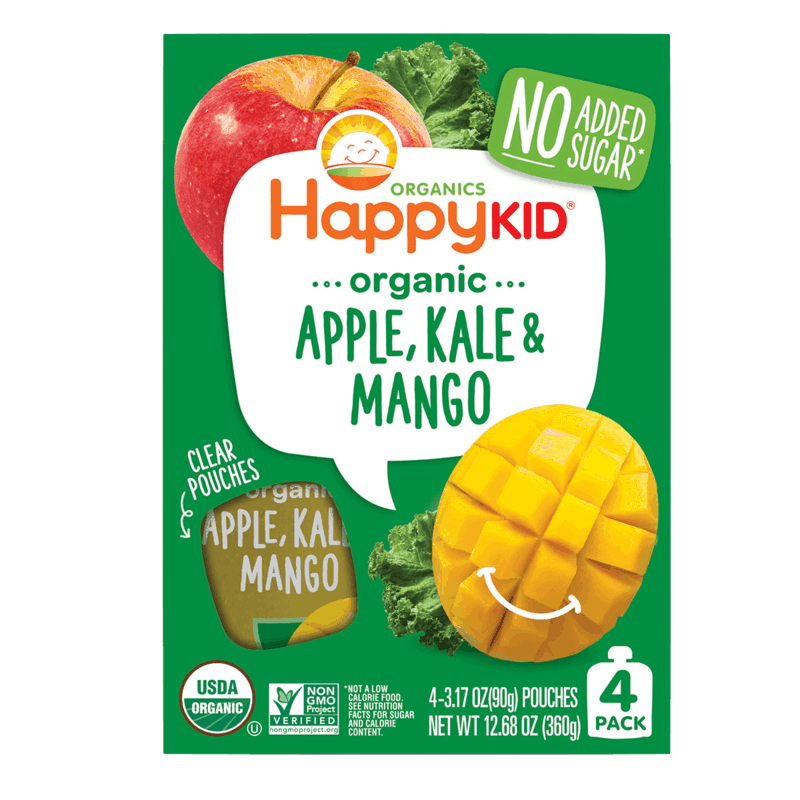 $0.75 for Happy Kid Organics™ Pouches (expiring on Saturday, 04/25/2020). Offer available at King Soopers, Kroger, Smith's, Fry's, Dillons.