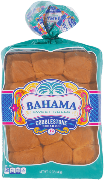 $0.50 for Cobblestone Bread Co.™ Bahama Sweet Rolls (expiring on Friday, 05/11/2018). Offer available at Walmart, Publix, Food Lion.