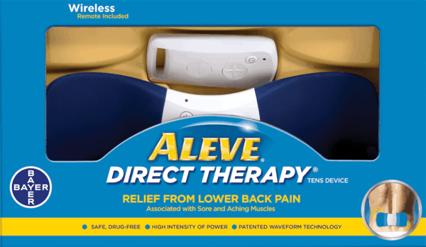 $12.00 for Aleve® Direct Therapy™ Wireless TENS Device (expiring on Monday, 07/02/2018). Offer available at Walmart.