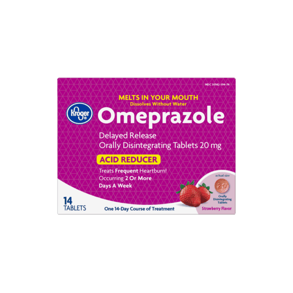 $1.50 for Kroger® Omeprazole Acid Reducer Orally Disintegrating Tablets. Offer available at Kroger.