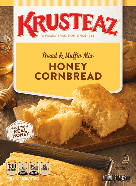 $0.50 for Krusteaz® Cornbread Mix (expiring on Wednesday, 05/02/2018). Offer available at multiple stores.