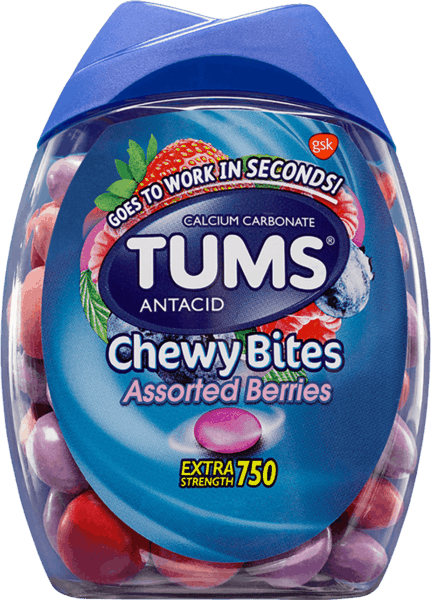 $1.00 for TUMS Chewy Bites 32 Ct. Pack. Offer available at Walmart.