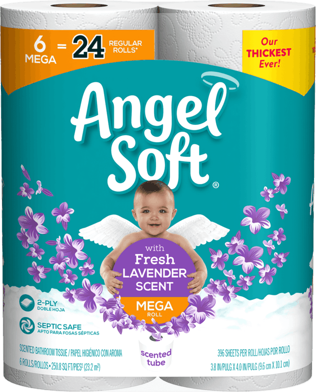 $2.00 for Angel Soft® with Fresh Lavender Scented Tube. Offer available at Walmart.