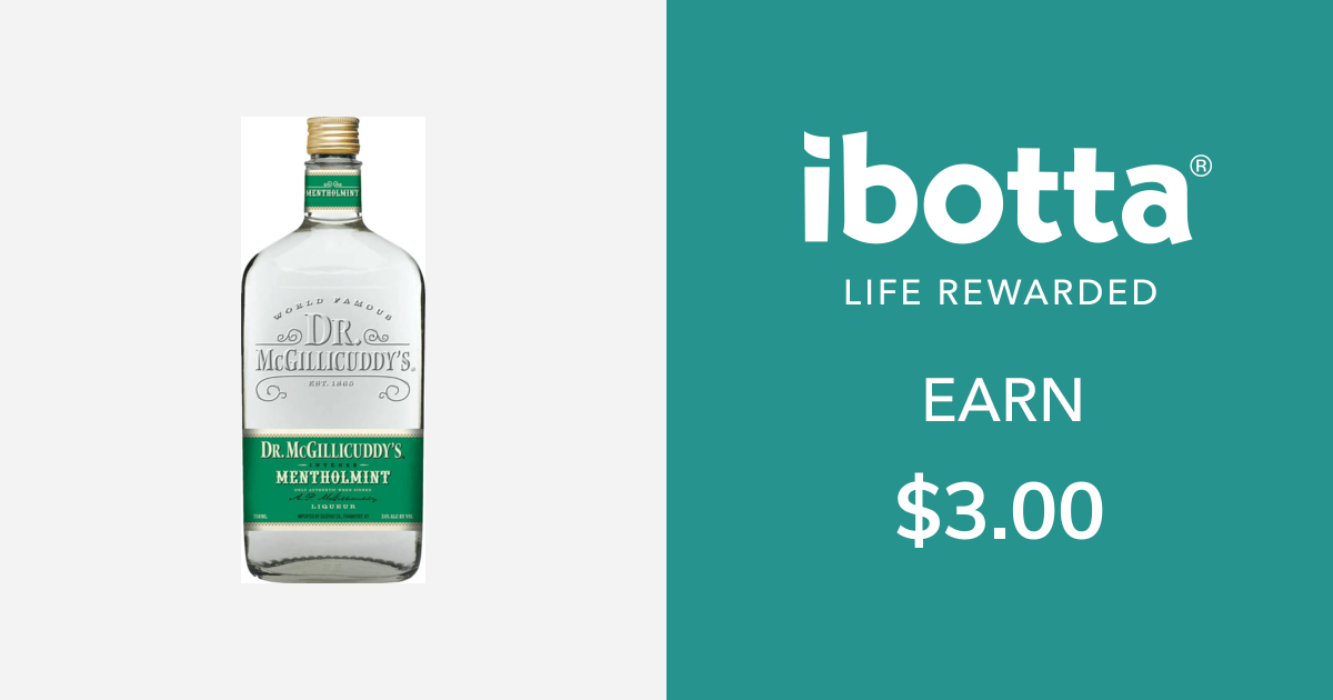 Get $3.00 back on Dr. McGillicuddy's for Mentholmint, 750mL size or larger.