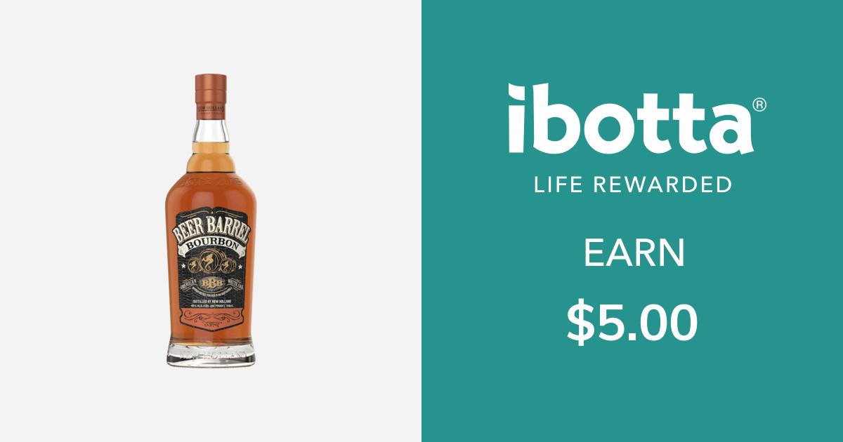 Get $5.00 back on New Holland Beer Barrel Bourbon, 750ml only