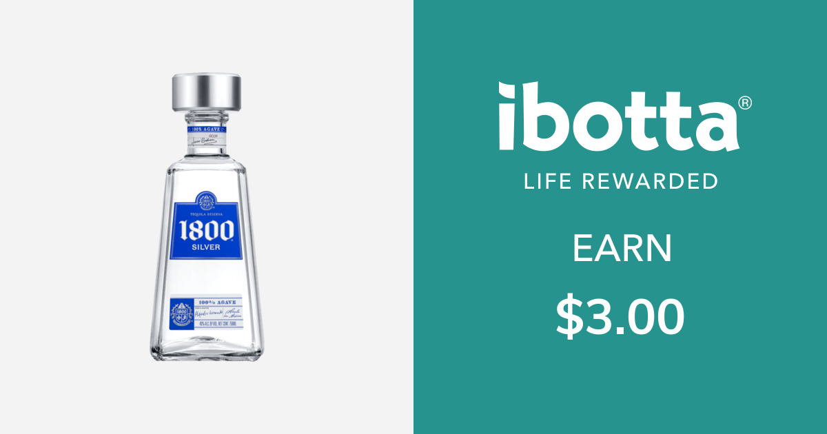 Get $3.00 back on 1800 Tequila, select varieties, 750 ml bottle or larger. Offer includes the following varieties: •Silver •Reposado •CoconutYou can redeem this offer at any in-store retailer where this product is available.