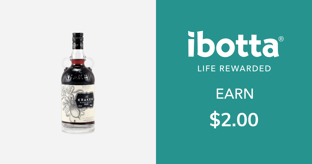 Get $2.00 back on The Kraken Spiced Rum, any variety, 750 ml bottle or larger. You can redeem this offer at any in-store retailer where this product is available