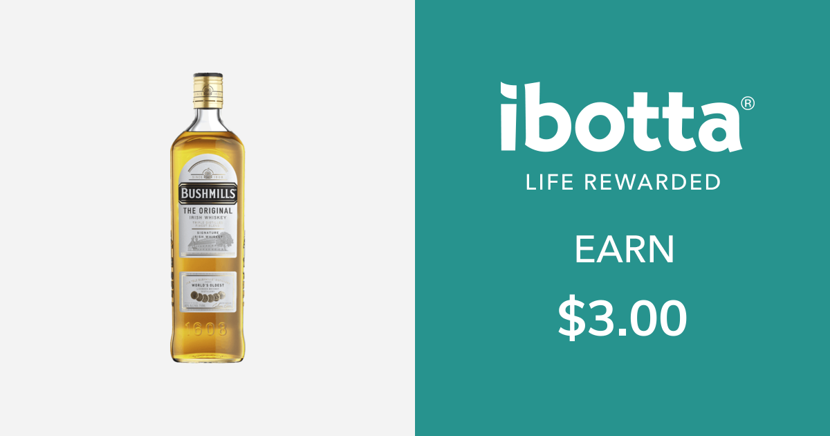 Get $3.00 back on Bushmills Irish Whiskey - any variety, 750 ml bottle or larger.You can redeem this offer at any in-store retailer where this product is available.