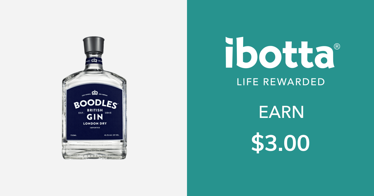 Get $3.00 back on Boodles Gin - any variety, 750 ml or larger. You can redeem this offer at any in-store retailer where this product is available.