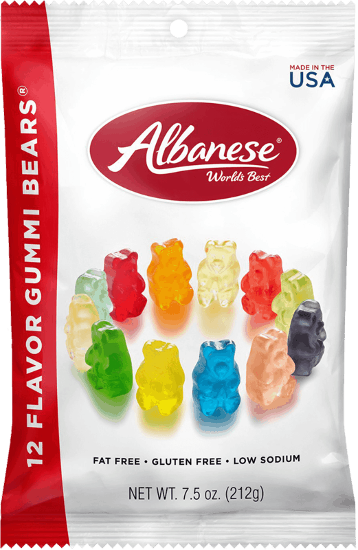 $0.50 for Albanese 12 Flavor Gummi Bears (expiring on Wednesday, 03/31/2021). Offer available at Walgreens.