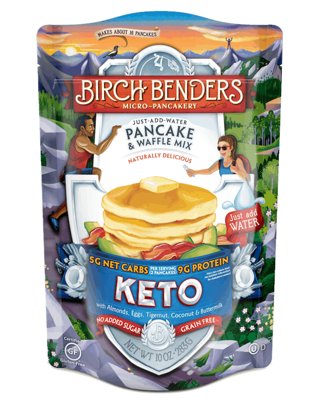 $1.00 for Birch Benders Keto Pancake & Waffle Mix (expiring on Thursday, 08/19/2021). Offer available at multiple stores.