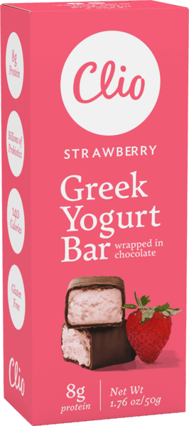 $0.50 for Clio Greek Yogurt Bars (expiring on Saturday, 02/01/2020). Offer available at Harris Teeter.