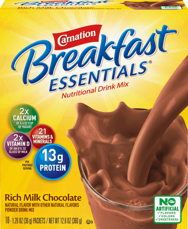 $0.25 for Carnation Breakfast Essentials Nutritional Products Powder Drink Mix (expiring on Thursday, 05/28/2020). Offer available at Walmart, Walmart Grocery.