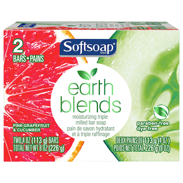 $0.50 for Softsoap® Earth Blends™ Bar Soap (expiring on Sunday, 12/02/2018). Offer available at Walmart.