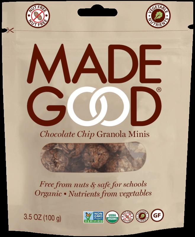 $1.00 for MadeGood Granola Minis (expiring on Sunday, 11/01/2020). Offer available at Target, CVS Pharmacy, Whole Foods Market®.