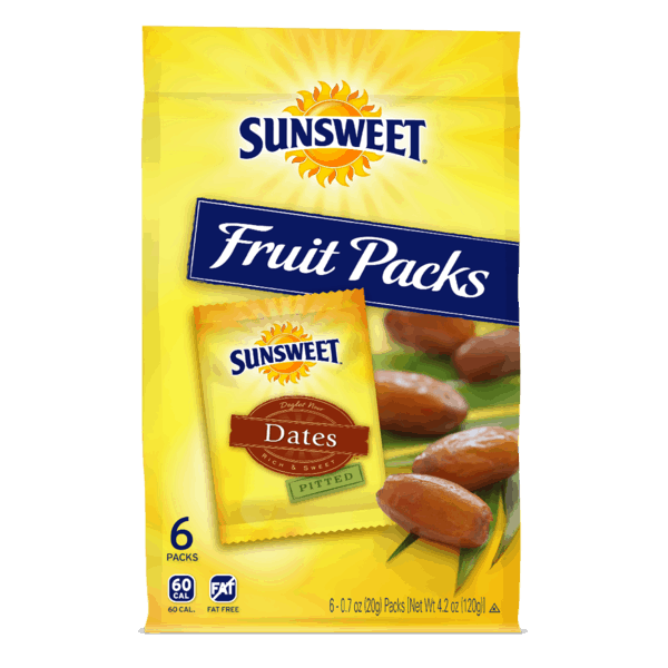$1.00 for Sunsweet® Fruit Packs (expiring on Sunday, 09/30/2018). Offer available at multiple stores.