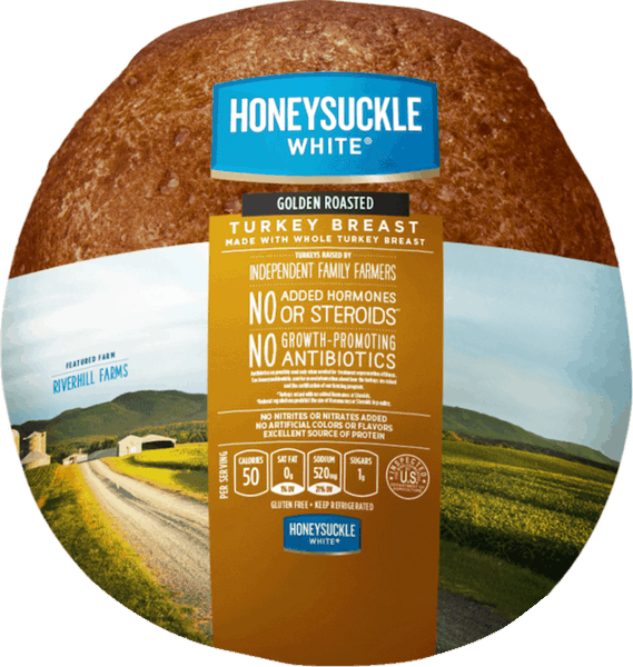 $0.25 for Honeysuckle White® Turkey Breast (expiring on Tuesday, 04/02/2019). Offer available at Walmart.