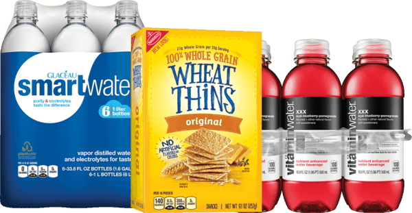 $1.00 for Coca-Cola Brands & Wheat Thins Combo. Offer available at Stop & Shop, Martin's (IN, MI), Giant (DC,DE,VA,MD), GIANT (PA,WV,MD,VA), MARTIN'S.